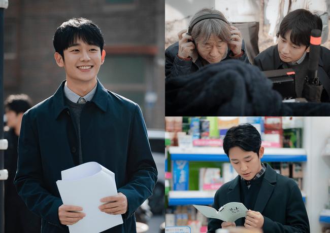 Trai trẻ Jung Hae In cười rạng rỡ gây xao xuyến trong hậu trường phim mới - Ảnh 2.