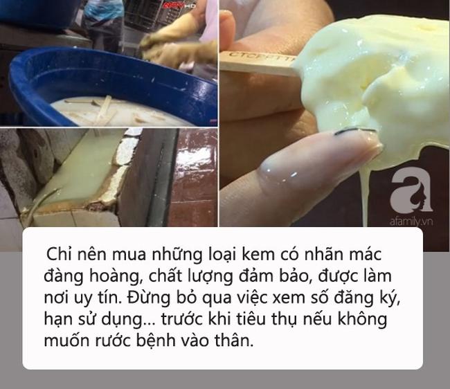 """Kinh hãi quy trình sản xuất kem """"siêu bẩn"""" tại Hà Nội: Coi chừng nhiễm melamin, ngộ độc vì chuộng ăn kem vị lạ giá rẻ! - Ảnh 1."""