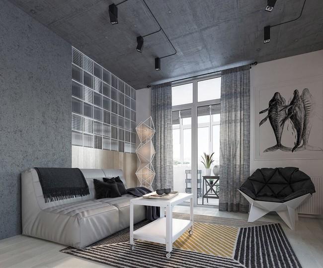 Căn hộ 49m² với thiết kế hình học ấn tượng, xóa đi khái niệm hình học là khô khan - Ảnh 1.