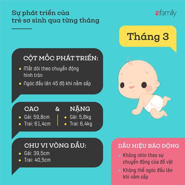 Tham khảo các cột mốc phát triển quan trọng của em bé sơ sinh trong một năm đầu tiên theo từng tháng - Ảnh 3.