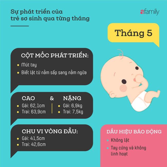 Tham khảo các cột mốc phát triển quan trọng của em bé sơ sinh trong một năm đầu tiên theo từng tháng - Ảnh 5.
