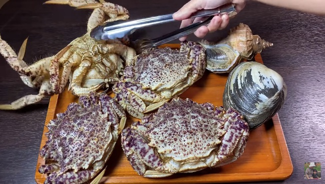 """Quỳnh Trần JP làm vlog cua tím siêu gạch của Nhật, chị em ai nấy gật gù tâm tắc ở """"bển"""" quá sướng vì hải sản ngon mà giá siêu rẻ - Ảnh 2."""