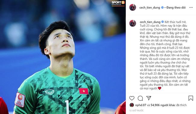 Day dứt sau trận thua 1-2 trước U23 Triều Tiên, thủ môn Bùi Tiến Dũng đăng status khá dài khiến ai nấy đều xót xa - Ảnh 1.