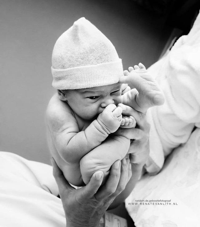 """Bất ngờ với bộ ảnh chụp tư thế bé sơ sinh chào đời """"lọt thỏm"""" tạo dáng y như còn nằm trong bụng mẹ - Ảnh 1."""