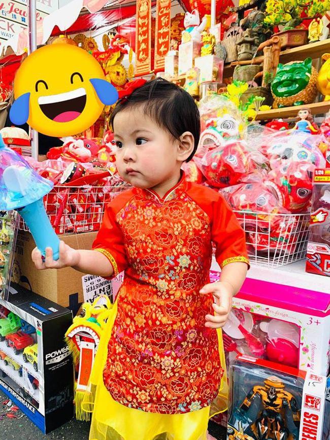 Khi các nhóc tì nhà sao Việt diện áo dài đón Tết: Con gái Hà Anh siê nhí nhảnh, quý từ nhà Đan Trường chững chạc thấy rõ - Ảnh 12.
