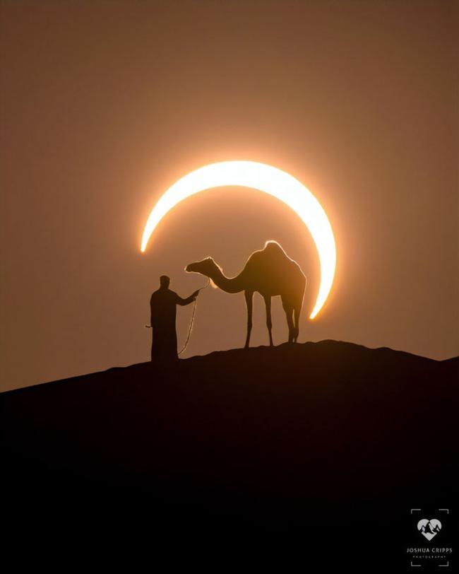 Nếu không có ảnh hậu trường, chắc chẳng ai tin khoảnh khắc Nhật thực kỳ diệu ở Dubai là có thực - Ảnh 1.
