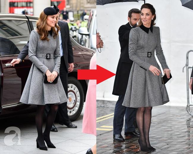 Vẫn chiếc váy ấy nhưng Kate Middleton chỉ thay đổi vài chi tiết, vẻ ngoài đã vươn lên tầm cao mới: trẻ trung và siêu cấp thời thượng - Ảnh 4.