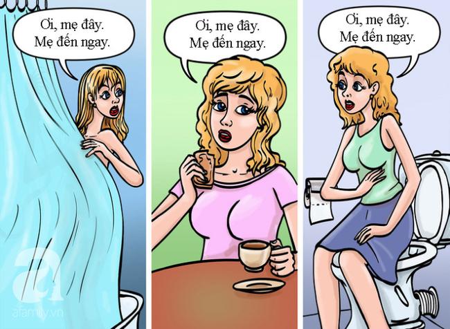 """Bộ tranh minh họa """"Mẹ là siêu nhân"""" tả thật đến nỗi ai xem cũng phải gật gù đồng ý - Ảnh 4."""