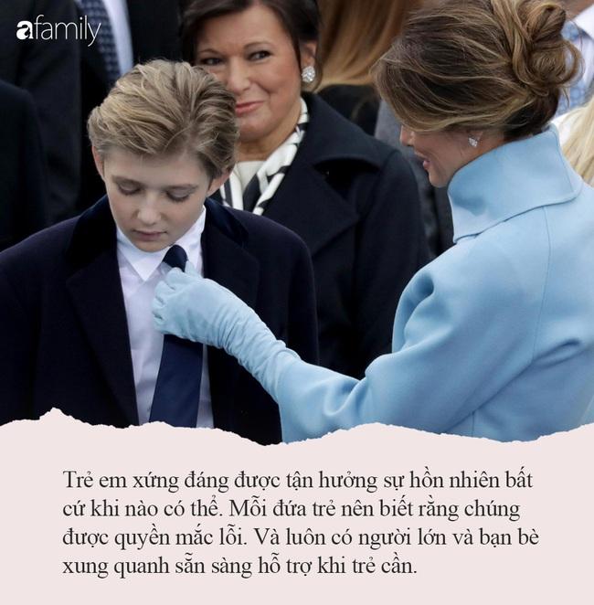 Từng nhiều lần bị công chúng chê cười nhưng khi Melania Trump nói ra quan điểm dạy trẻ của mình, ai cũng đồng tình, vỗ tay khen ngợi - Ảnh 9.