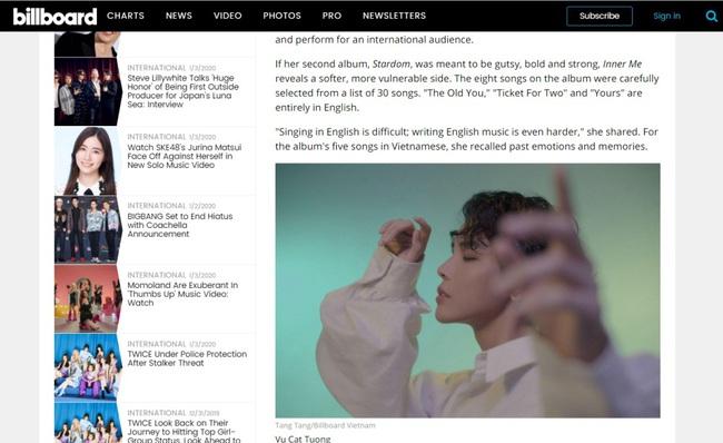 Đón năm mới Vũ Cát Tường đón tin vui khi xuất hiện trên tạp chí Billboard Mỹ - Ảnh 3.
