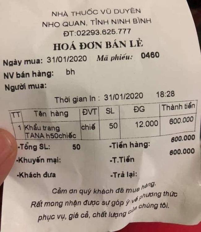 Ninh Bình:  Hệ thống Công ty TNHH Dược phẩm Vũ Duyên bị phạt vì lợi dụng dịch Corona tăng giá khẩu trang - Ảnh 4.