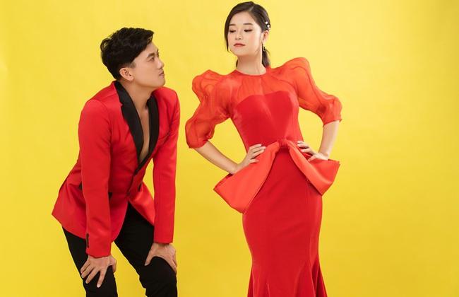 """Hoàng Yến Chibi đẹp lộng lẫy đón Valentine cùng Quách Ngọc Tuyên, khác xa hình ảnh """"cô xe ôm"""" trong phim - Ảnh 3."""