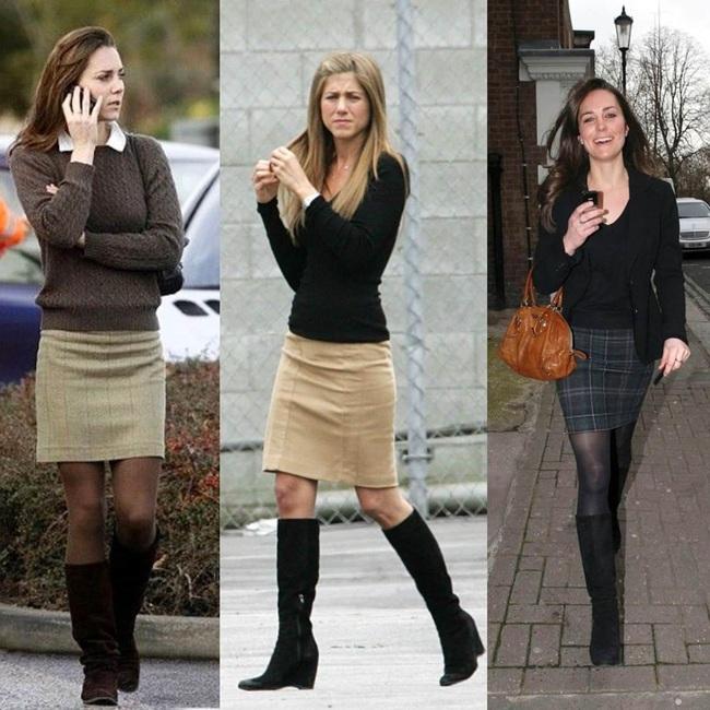"""Kate Middleton trước khi làm dâu Hoàng gia quả là """"ăn chơi"""" hết nút, nhiều lần chung ý tưởng diện đồ với Jennifer Aniston mà vẫn chất ngang ngửa - Ảnh 2."""