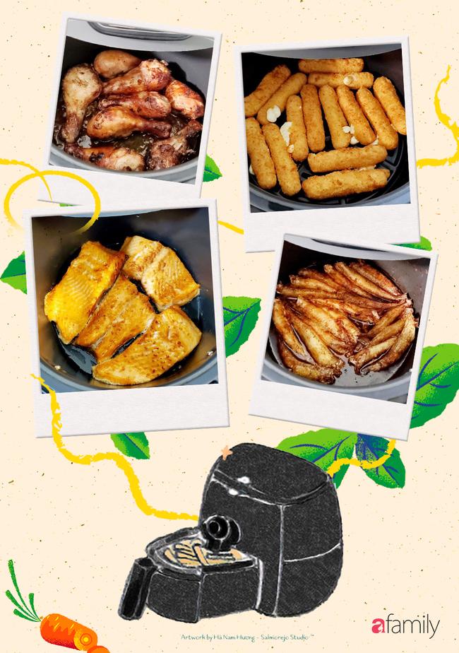 Hot Mom Huỳnh Phương Trang chia sẻ loạt bí quyết và món ăn cực đỉnh từ nồi chiên không dầu - Ảnh 1.
