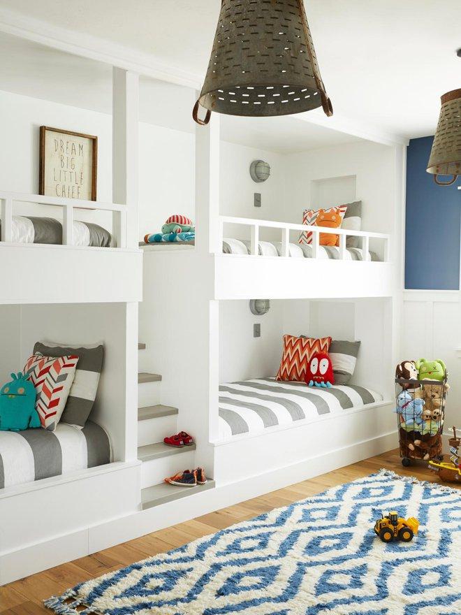 11 mẫu giường tầng đẹp, gọn cực đáng tham khảo cho những gia đình nhà chật mà đông con - Ảnh 3.