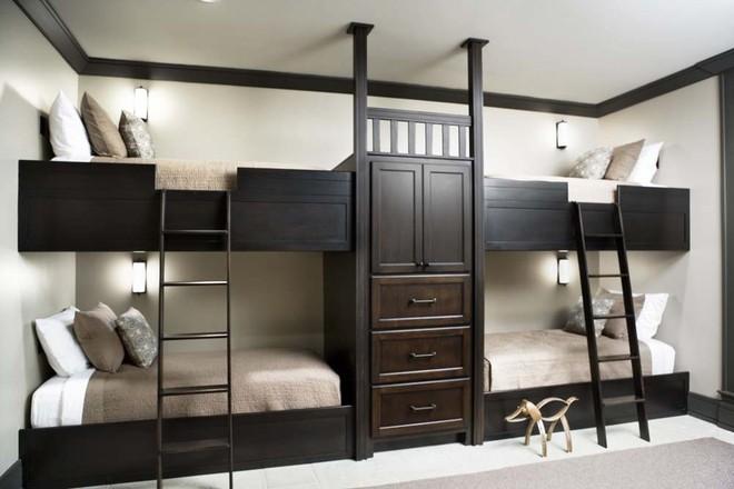 11 mẫu giường tầng đẹp, gọn cực đáng tham khảo cho những gia đình nhà chật mà đông con - Ảnh 4.