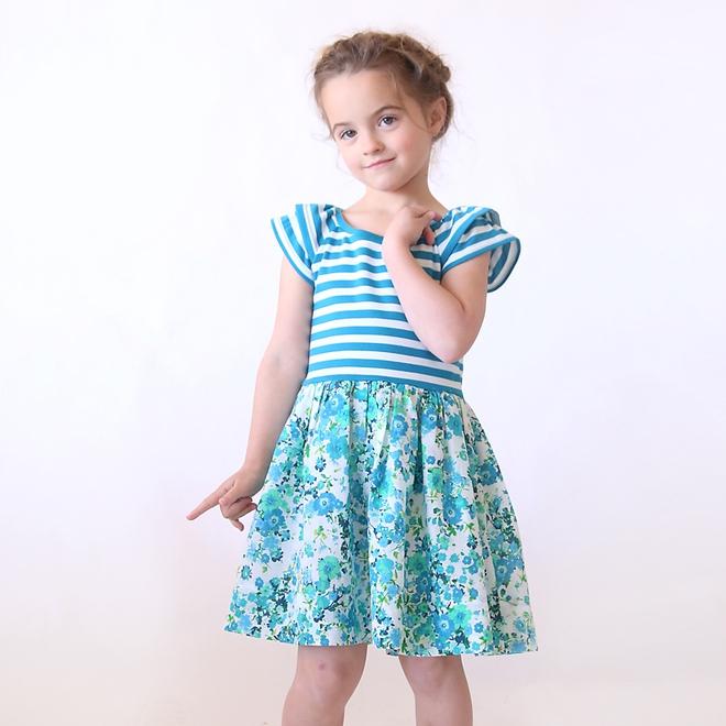 Từ A-Z cách may váy đầm xanh mát cho bé diện đón thu - Ảnh 10.