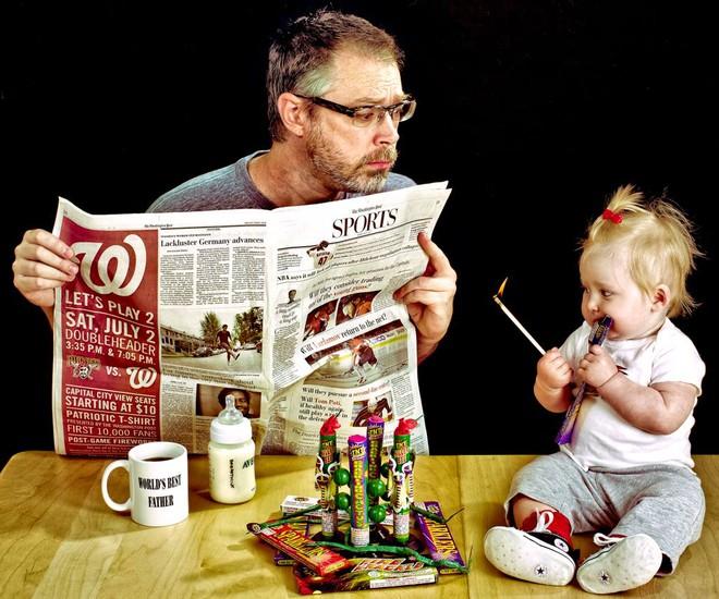 Cười nghiêng ngả trước 24 ảnh về ông bố yêu con nhất quả đất - Ảnh 10.