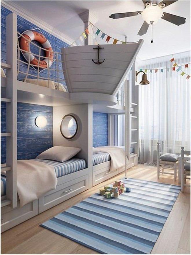 11 mẫu giường tầng đẹp, gọn cực đáng tham khảo cho những gia đình nhà chật mà đông con - Ảnh 5.