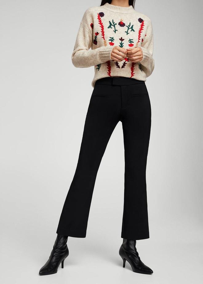 Gợi ý 15 mẫu quần dài từ Zara, Mango, H&M cứ mặc cùng boots là đẹp - Ảnh 11.