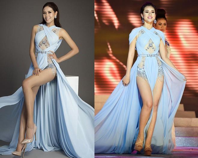 Cùng diện thiết kế váy khoét sâu xẻ cao này, nhưng không một ai duyên dáng được như Huyền My - Ảnh 8.