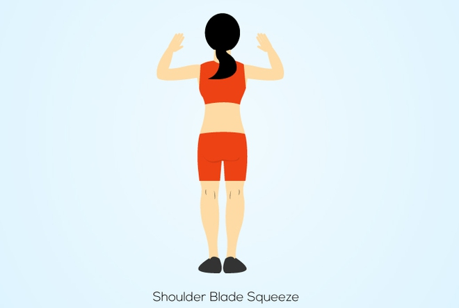 4 bài tập bả vai đơn giản giúp giảm đau vai, đẹp lưng, thon eo - Ảnh 9.
