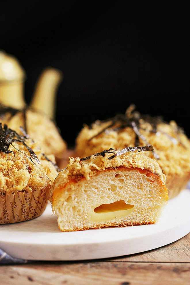 Mềm ngon món bánh mỳ chà bông rong biển - Ảnh 5.