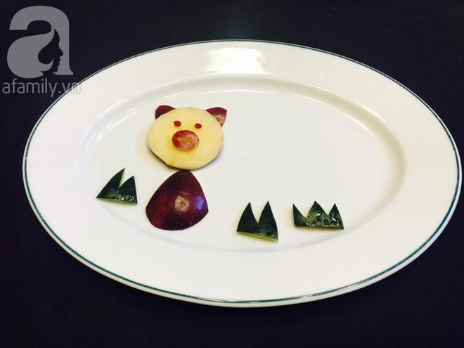 10 phút tạo hình 5 con vật siêu cute chỉ từ táo và nho - Ảnh 2.