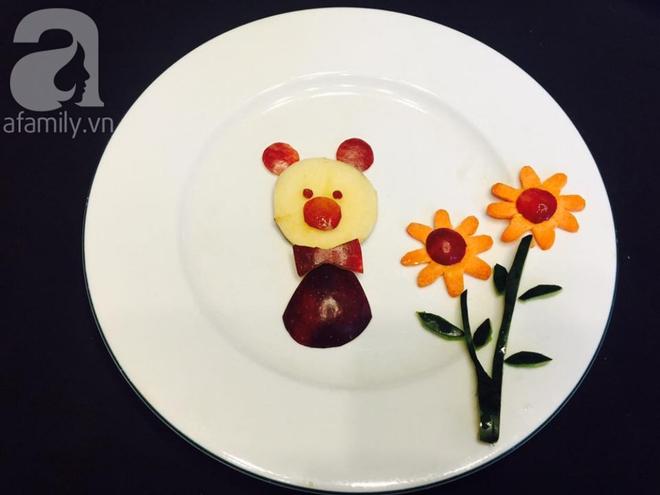10 phút tạo hình 5 con vật siêu cute chỉ từ táo và nho - Ảnh 5.