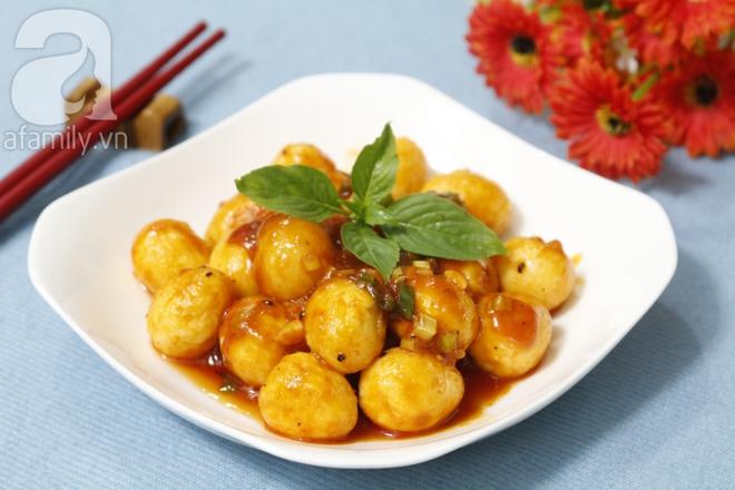 Bữa tối ngon cơm với trứng cút sốt chua ngọt làm chỉ trong 15 phút - Ảnh 6.
