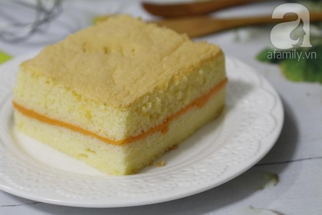Công thức làm bánh bông lan phô mai Đài Loan chuẩn không cần chỉnh - Ảnh 8.