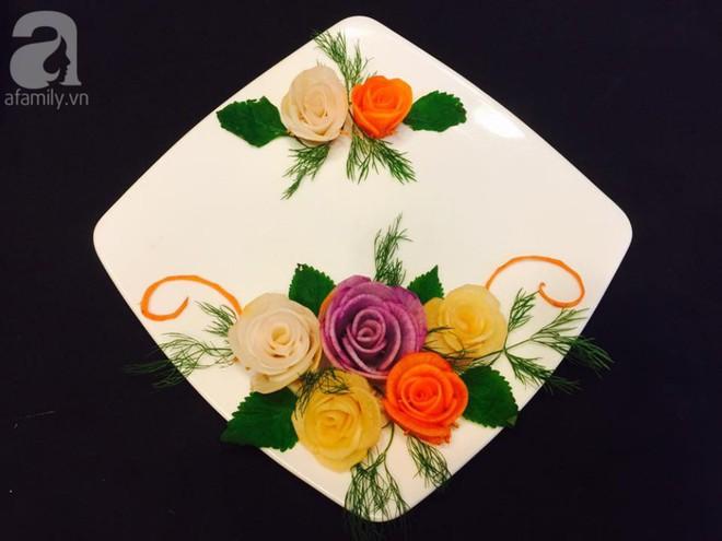 Mách bạn cách trang trí đĩa ăn tuyệt đẹp hình hoa hồng từ củ cải - Ảnh 6.