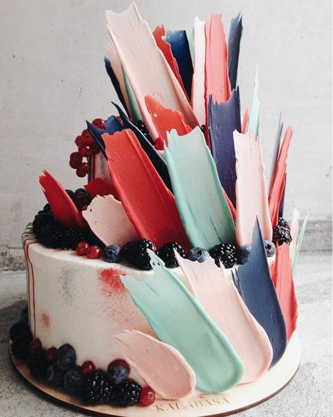 Chiêm ngưỡng tuyệt tác bánh ngọt - Brushstrokes cake đang gây bão mạng xã hội Instagram - Ảnh 2.