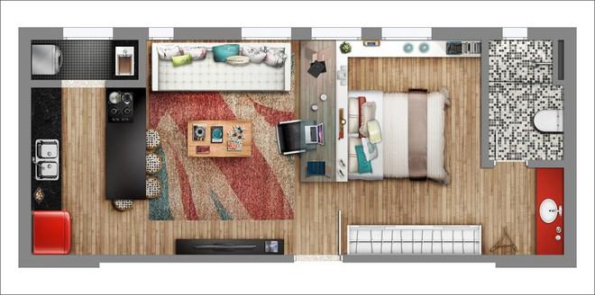 14 mẫu căn hộ một phòng ngủ không thể lý tưởng hơn cho người độc thân và vợ chồng trẻ - Ảnh 6.