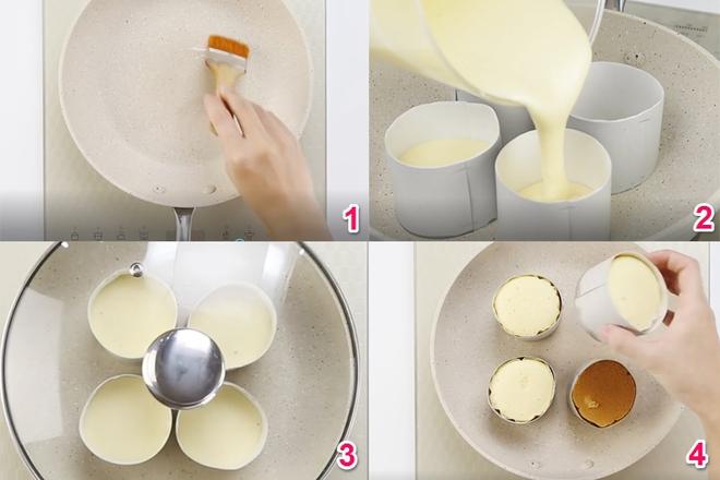 Không có lò nướng thì làm bánh bông lan bằng chảo không dính, vẫn thơm ngon như thường - Ảnh 3.