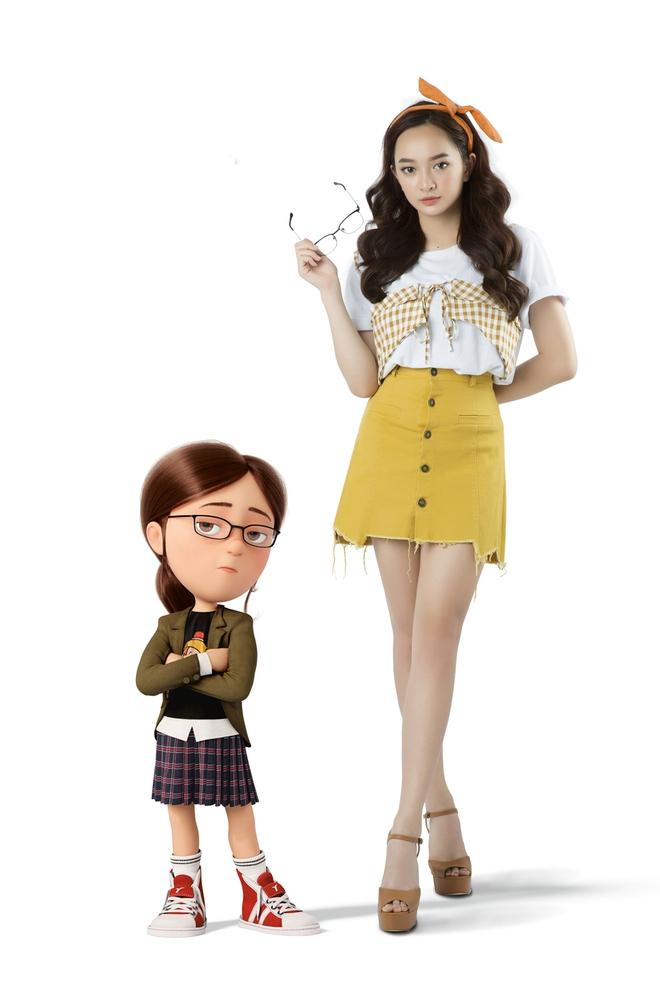 Hậu Em chưa 18, Kaity Nguyễn làm... con gái Kiều Minh Tuấn, nhí nhảnh bên các Minion - Ảnh 7.