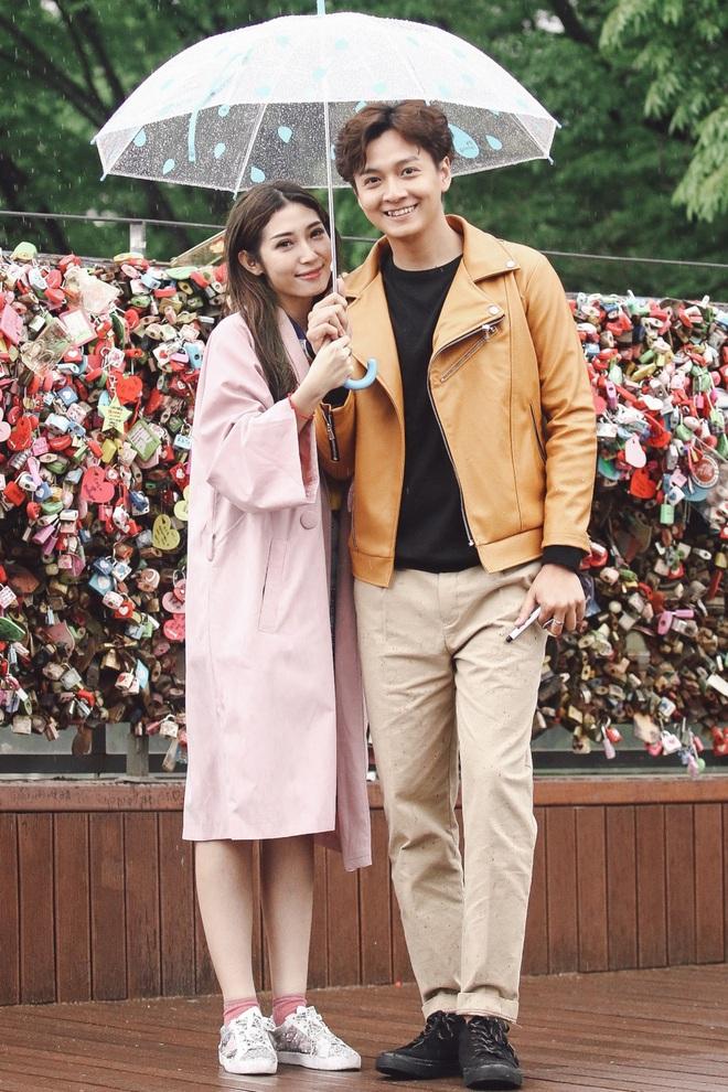 Ngô Kiến Huy - Khổng Tú Quỳnh tay trong tay hạnh phúc ở Hàn Quốc - Ảnh 2.