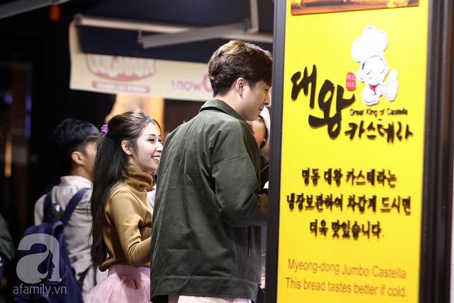 Ngô Kiến Huy tình tứ đưa Khổng Tú Quỳnh đi dạo phố Seoul - Ảnh 4.