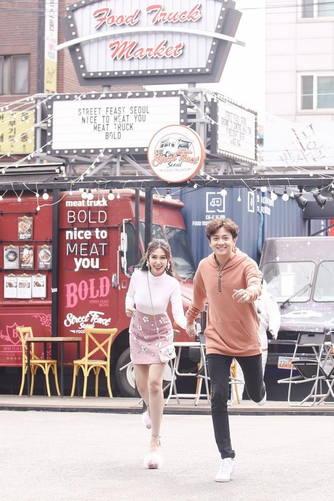 Ngô Kiến Huy - Khổng Tú Quỳnh tay trong tay hạnh phúc ở Hàn Quốc - Ảnh 6.