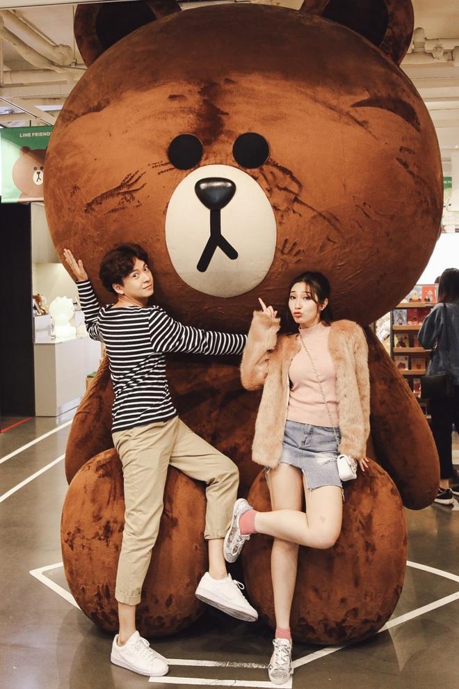 Ngô Kiến Huy - Khổng Tú Quỳnh tay trong tay hạnh phúc ở Hàn Quốc - Ảnh 4.