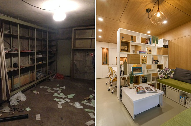 Đẹp ngỡ ngàng những không gian sống được cải tạo từ nhà xe   - Ảnh 4.
