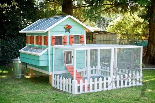 Những ngôi nhà nhỏ xinh đẹp như khách sạn dành cho… gà vịt - Ảnh 3.