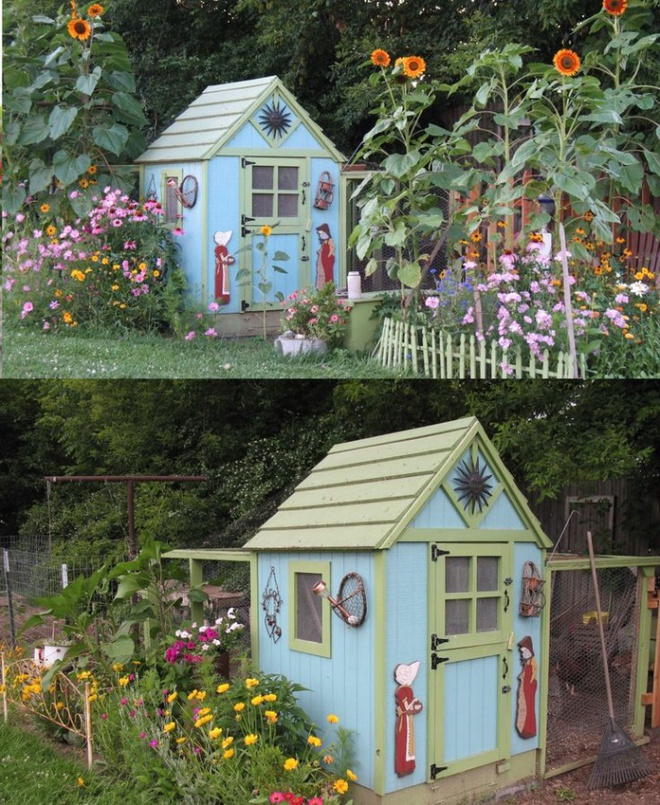 Những ngôi nhà nhỏ xinh đẹp như khách sạn dành cho… gà vịt - Ảnh 11.
