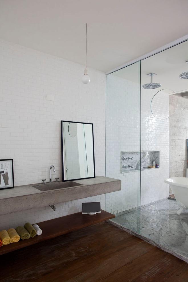 Thiết kế kệ mở giúp phòng tắm gia đình trở nên hoàn hảo đến khó tin - Ảnh 6.