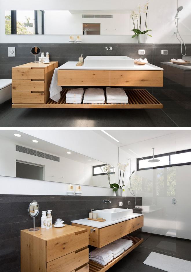 Thiết kế kệ mở giúp phòng tắm gia đình trở nên hoàn hảo đến khó tin - Ảnh 11.