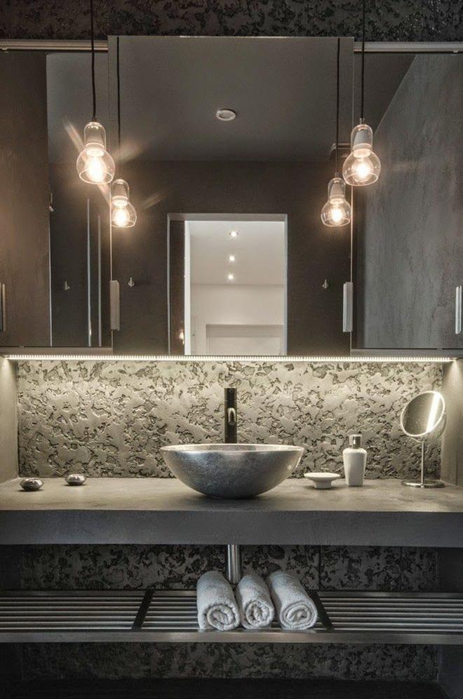 Thiết kế kệ mở giúp phòng tắm gia đình trở nên hoàn hảo đến khó tin - Ảnh 14.
