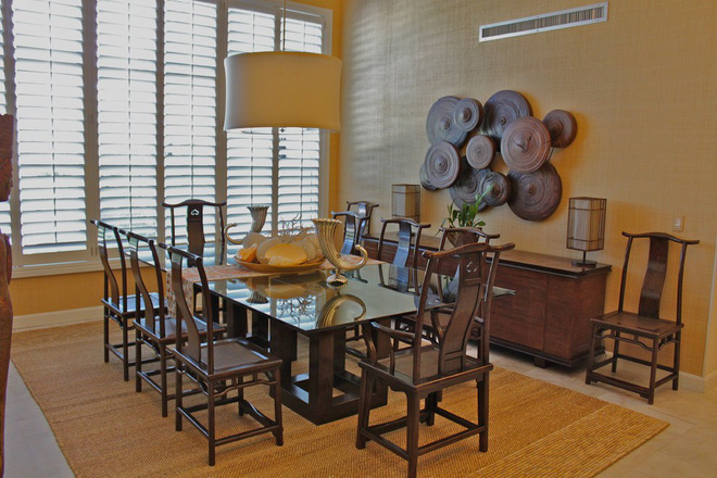 10 cách bài trí thảm phòng ăn theo phong cách retro ấn tượng - Ảnh 2.