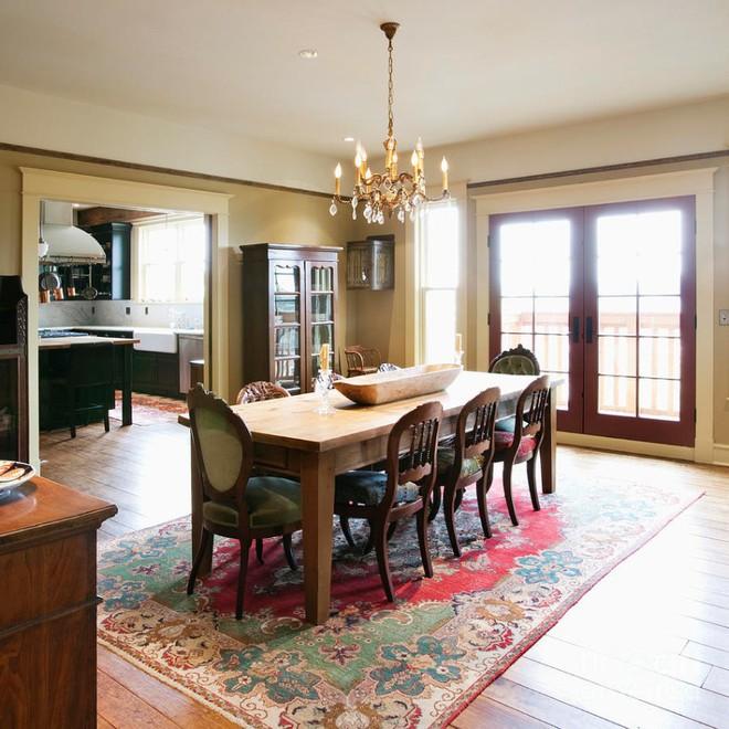 10 cách bài trí thảm phòng ăn theo phong cách retro ấn tượng - Ảnh 9.