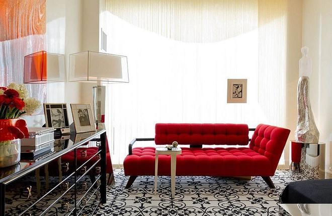 Xu hướng sử dụng ghế sofa màu đậm đang dần lên ngôi trong công cuộc tạo điểm nhấn cho phòng khách - Ảnh 3.