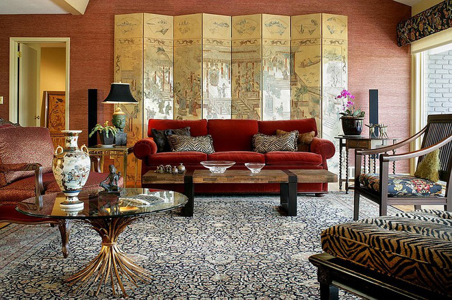 Xu hướng sử dụng ghế sofa màu đậm đang dần lên ngôi trong công cuộc tạo điểm nhấn cho phòng khách - Ảnh 5.